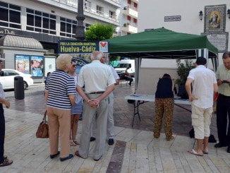 Acción promocional de la Mesa de la Ría para conseguir la conexión marítima con Cádiz