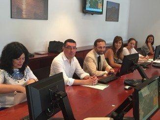 Alejandro Márquez en una reunión de la Comisión de Ordenación del Territorio