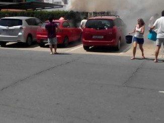 Los vecinos de la urbanización sofocaron el incendio que quedó en un susto