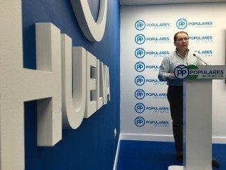 Javier Toscano, en la sede del PP
