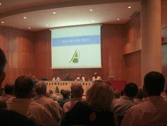 Un momeno de la celebración de la Asamblea General de Asaja Huelva