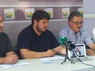 Alcaldes de IU han comparecido ante los medios para exigir los planes
