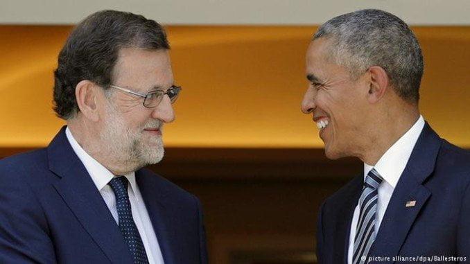 Obama se lleva a EE UU un jamón ibérico como regalo de Rajoy