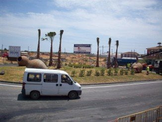 Vista del Sector Andalucía Sur 2 del PGOU desde la carretera de Circunvalación de Lepe