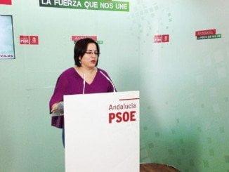 Pastora López, secretaria general del PSOE en Palos y portavoz del Grupo Socialista en el Consistorio