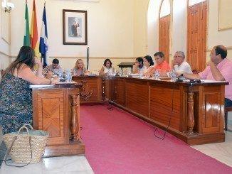 Sesión plenaria en el Ayuntamiento de San Juan del Puerto