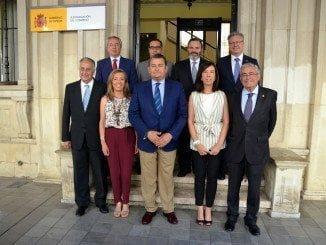 El delegado del Gobierno en Andalucía junto a los subdelegados de las ocho provincias andaluzas