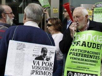Manifestación en Madrid de los afectados por las preferentes