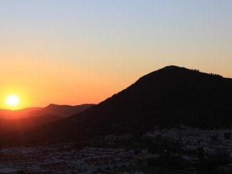Puesta de sol en Aracena