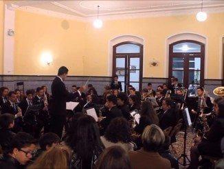 La Banda municipal de Música de Lepe, en una de sus actuaciones