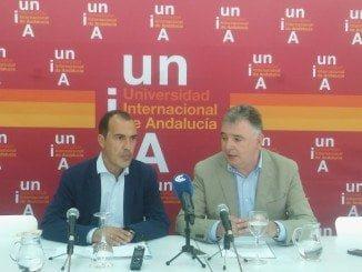El delegado del Gobierno andaluz en Huelva, Francisco José Romero durante su intervención