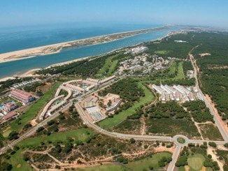 Vista aérea del Nuevo Portil, donde ocurrieron los hechos