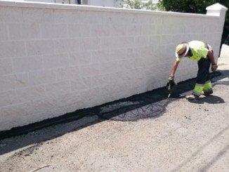 Obras de reparación en La Ribera