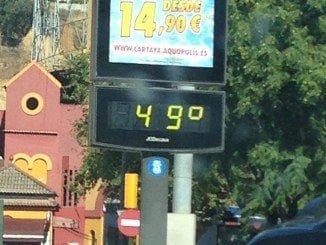 A 49 grados centígrados hemos llegado hoy lunes 11 de Julio en Huelva