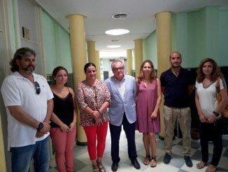 El delegado territorial del SAS visita el centro de Salud de Matalascañas