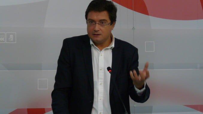 El portavoz del PSOE en el Senado, Óscar López