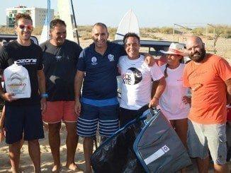 """Los ganadores de la regata de Kite y paddle Surf """"Virgen del Carmen""""de Punta Umbría"""