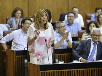 La presidenta de la Junta, en la sesión de control al Gobierno celebrada en el Parlamento