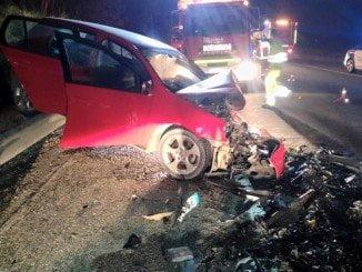 Imagen de un accidente de tráfico en Almonte