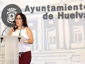 Alicia Narciso en la rueda de prensa donde ha explicado los presupuestos de su departamento