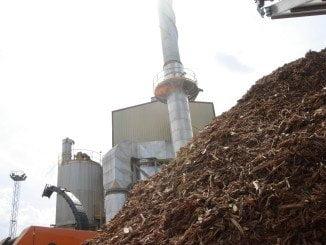 Una planta de biomasa