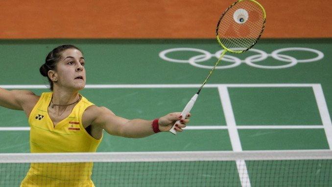 Carolina en su primer partido en Río