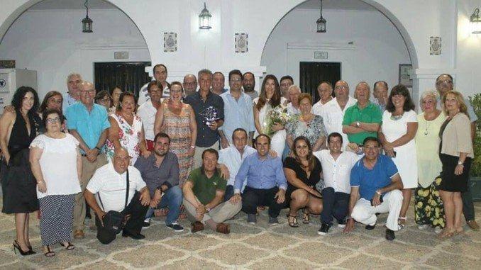 Cena homenaje de la Federación de Peñas del Recre a Alejandro Ceballos.