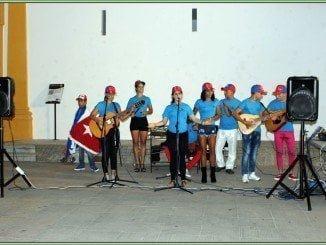 El grupo de cubanos que recorre varias localidades de la provincia