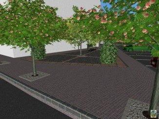 Así quedará la calle, de acuerdo al programa informático de diseño virtual del Ayuntamiento
