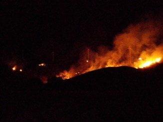 Imagen del incendio en El Granado