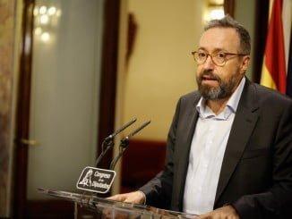 Juan Carlos Girauta en la rueda de prensa