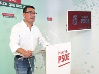 El secretario de Política Municipal de los socialistas onubenses, Manuel Domínguez