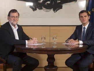 Mariano Rajoy con Albert Rivera en el Congreso