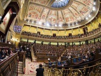 Mariano Rajoy en la sesión de investidura en su primera intervención
