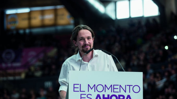 Pablo Iglesias, líder de la formación morada