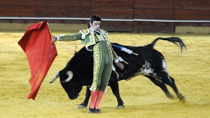 Perera se pasó mucho el toro por la espalda, mezclando pases, pero lo  que dice torear se vio bien poco.