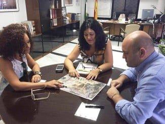 Landero se ha reunido con la delegada de Cultura para hablar sobre los restos arqueológicos