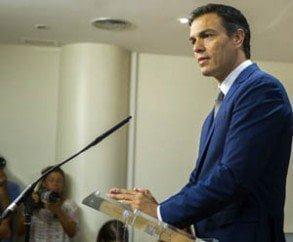 Sánchez se mantiene en el no a Rajoy en la investidura.