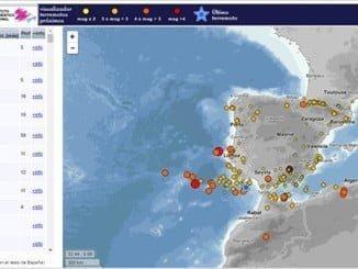 Minuto antes del terremoto de Italia se producía otro frente a las costas de Huelva de magnitud 4.
