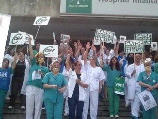 El personal sanitario se manifiestó en contra de los recortes