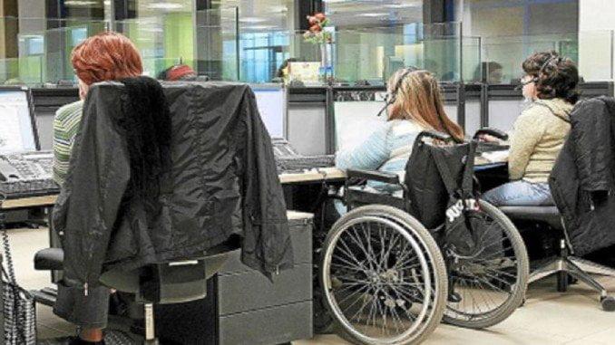 Discapacitados trabajando