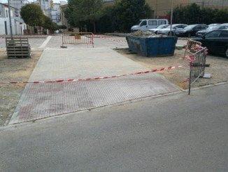 Imagen de una de las obras hechas en Huelva este mes