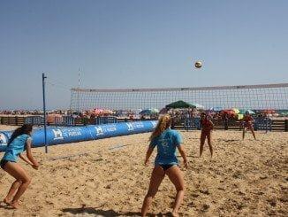 Han sido muchos los partidos de Voley que se han disputado en nuestras playas