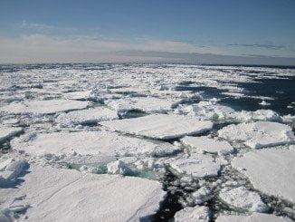 Capa de hielo en el océano Ártico./Foto: CARLOS DUARTE