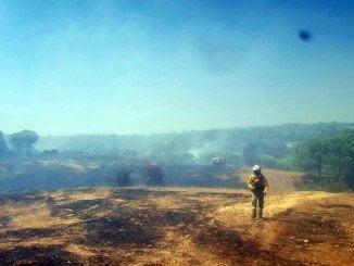 El incendio de Cartaya ya está totalmente extinguido