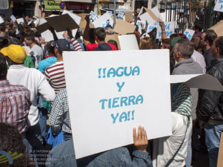 La Plataforma en una de sus manifestaciones