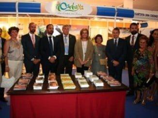 La ministra de Trabajo en funciones asistió a la inauguración de la feria de Cartaya.