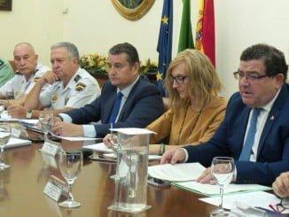 Reunión de la Comisión del Plan director, con Antonio Sanz a la cabeza