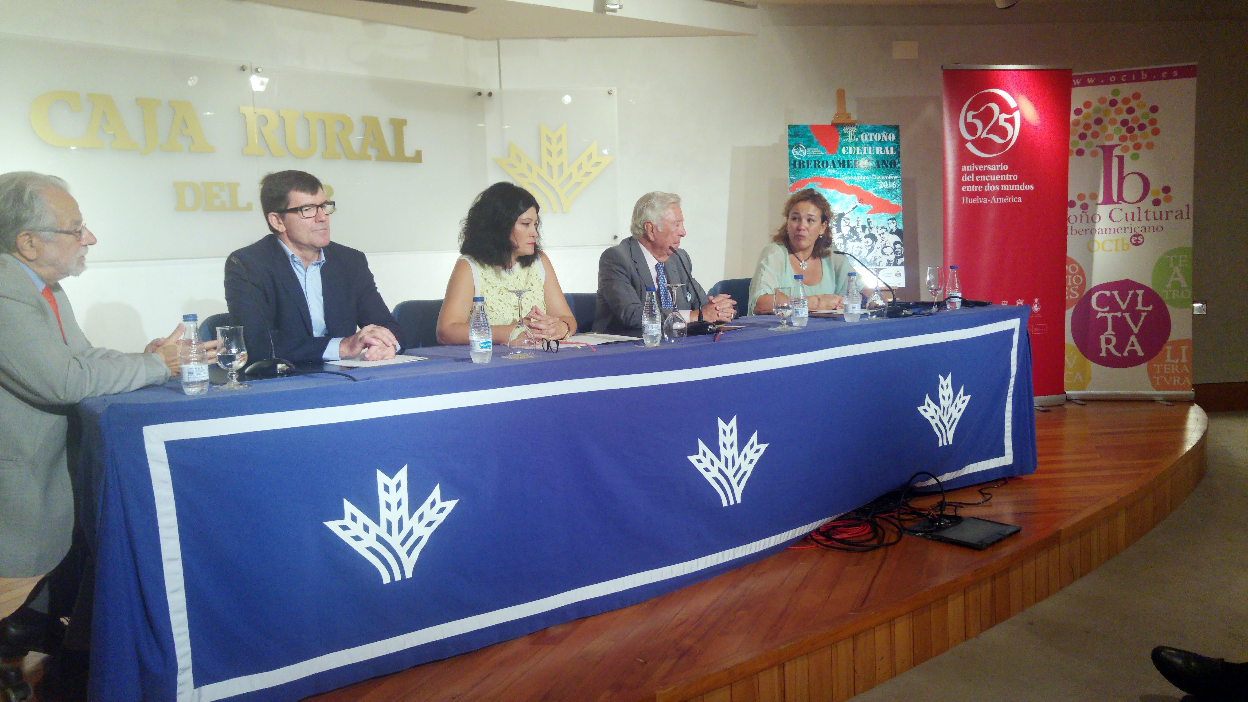 Acto de presentación del programa y cartel del OCIb 2016 en Caja Rural del Sur.