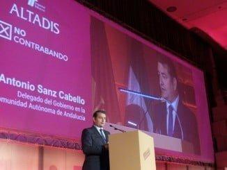 Sanz dice que  las ventas en estancos crecieron en 2015 respecto del año anterior un 1,49% en Huelva gracias a la lucha contra el contrabando
